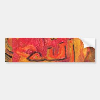 Cool Modern Islamic Design Name of God Bumper Stickers