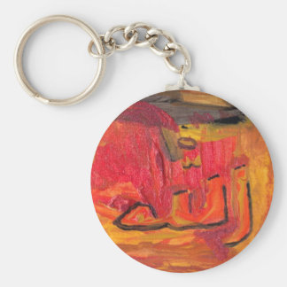 Cool Modern Islamic Design Name of God Basic Round Button Key Ring