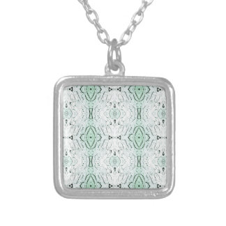 Cool Modern Light Airy Pattern Silver Plated Necklace