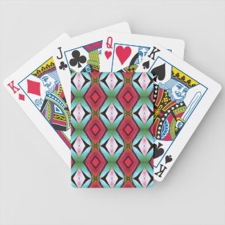 Cool Modern Magenta Teal  Pattern Bicycle Playing Cards