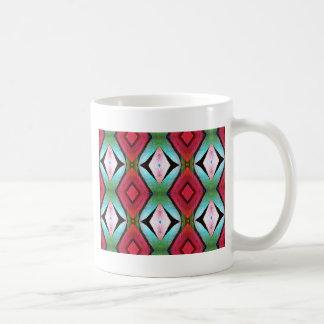 Cool Modern Magenta Teal  Pattern Coffee Mug