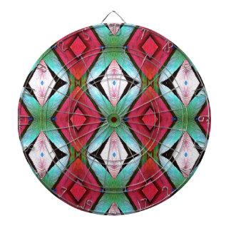 Cool Modern Magenta Teal  Pattern Dartboard