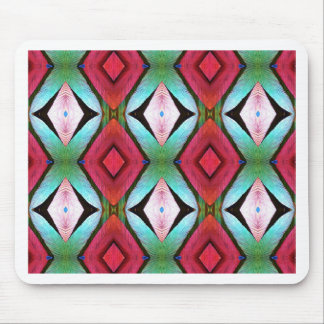 Cool Modern Magenta Teal  Pattern Mouse Pad