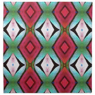 Cool Modern Magenta Teal  Pattern Napkin
