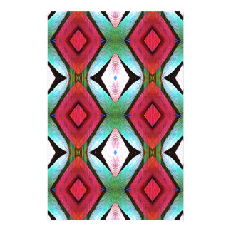 Cool Modern Magenta Teal  Pattern Stationery