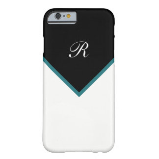 Cool Modern Monogram Style Barely There iPhone 6 Case