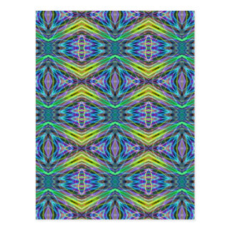 Cool Modern Multi colored Tribal Pattern Postcard