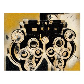Cool Modern Optometrists Phoroptor Lenses Postcard