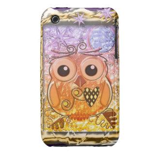 Cool modern Owl design Case-Mate iPhone 3 Cases