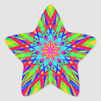 Cool Modern Radiating Artistic Abstract Star Sticker