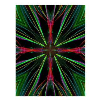 Cool Modern Red Green Christmas Abstract Postcard