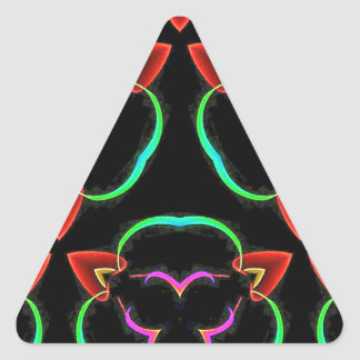 Cool Modern Red Teal Funky Pattern Triangle Sticker
