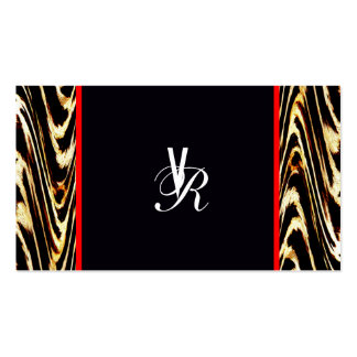 Cool Modern Retro Monogram Wedding Chevron Pack Of Standard Business Cards