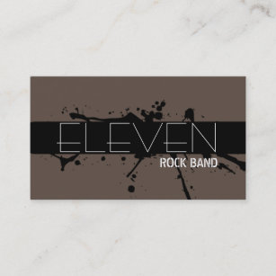 Cool rock band business cards business card printing zazzle cool modern rock band singer business card colourmoves
