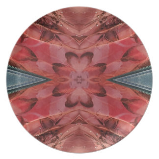 Cool Modern Rose Colored Pattern Plate