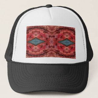 Cool Modern Rose Colored Pattern Trucker Hat
