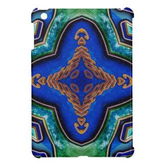Cool Modern Royal Blue Artistic Pattern iPad Mini Covers