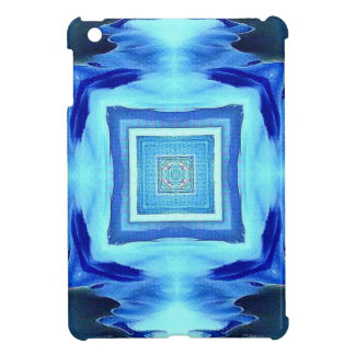 Cool Modern Shades of Blue Patterns Shapes Cover For The iPad Mini