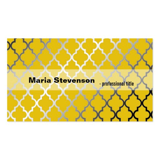 Cool, modern shining sunny yellow professional business card templates