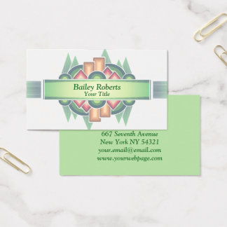 Cool Modern Southwestern Style Business Card