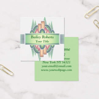 Cool Modern Southwestern Style Square Business Card