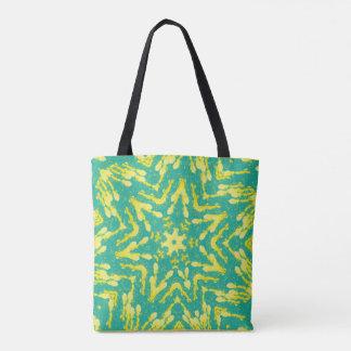 Cool Modern Tie Dye Star Shape Tote Bag