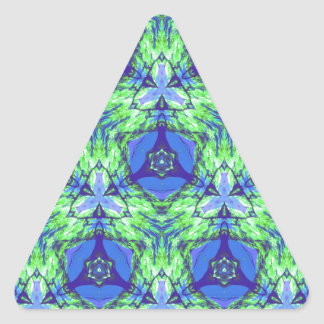 Cool modern vibrant blue lime green pattern triangle sticker