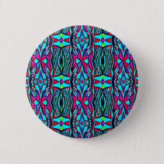 Cool Modern Vibrant colored Pattern 6 Cm Round Badge
