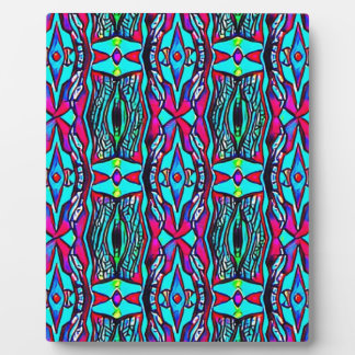 Cool Modern Vibrant colored Pattern Plaque