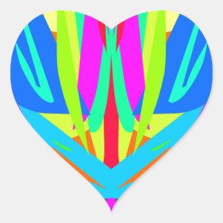 Cool Modern Vibrant Symmetrical Abstract Heart Sticker