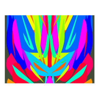 Cool Modern Vibrant Symmetrical Abstract Postcard