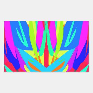 Cool Modern Vibrant Symmetrical Abstract Rectangular Sticker