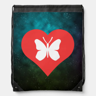 Cool Monarch Butterflies Pictograph Drawstring Backpack