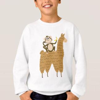 Cool Monkey Riding a Llama Sweatshirt