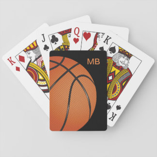 Cool Monogram Basketball Theme Poker Deck