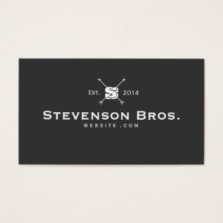 Cool Monogram Classic Vintage Black Entrepreneur Business Card