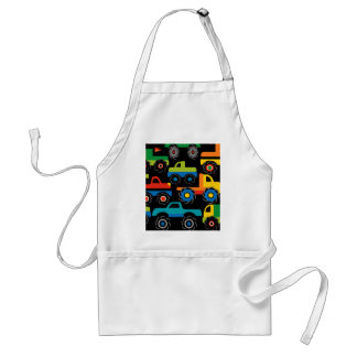 Cool Monsters Trucks Transportation Gifts for Boys Aprons