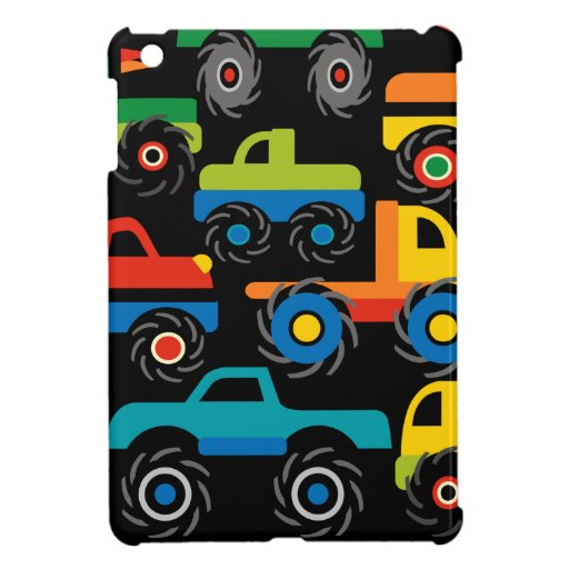 Cool Monsters Trucks Transportation Gifts for Boys Cover For The iPad Mini