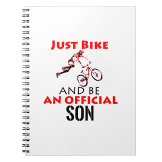 cool monthain bike  design spiral notebook