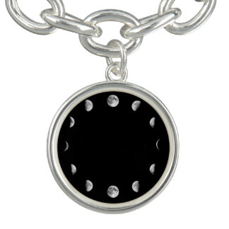 Cool Moon Phases Charm Bracelet