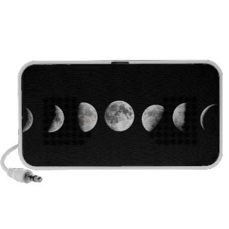 Cool Moon Phases Doodle iPhone Speakers