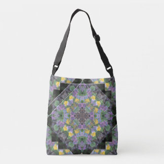Cool Moonlight Lavender Mandala Cross Body/Tote Crossbody Bag