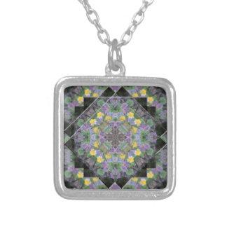 Cool Moonlight Lavender Mandala Necklace