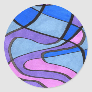 """Cool Morning"" Abstract Design Sticker"