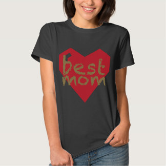 Cool Mother's Day Gift! Best Mom on Gold Chalk T-shirt