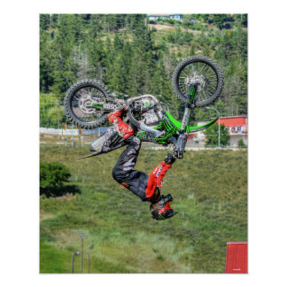 Cool Motocross Extreme Freestyle Stunt Art 1 Poster
