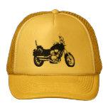 Cool motorcycle bike silhouette cap
