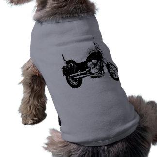 Cool motorcycle bike silhouette sleeveless dog shirt