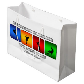 Cool Mountain Climbing It Is A Way Of Life Large Gift Bag