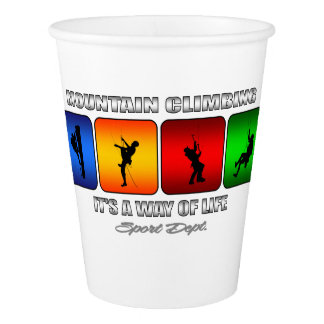 Cool Mountain Climbing It Is A Way Of Life Paper Cup